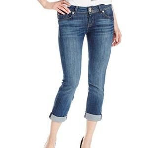 NWT Hudson Ginny Crop Straight Jeans Blue Wash 27